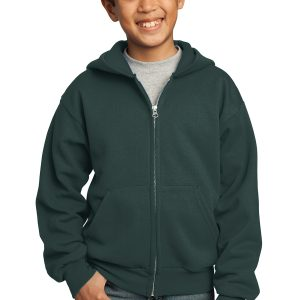 Port & Company Kids Core Fleece Full Zip Hooded Sweatshirt