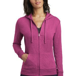 District ® Women's Fitted Jersey Full-Zip Hoodie
