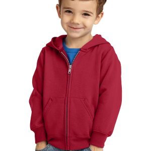 Port & Company® Toddler Core Fleece Full-Zip Hooded Sweatshirt