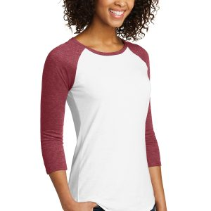 District® Women's Fitted Tee® 3/4-Sleeve Raglan