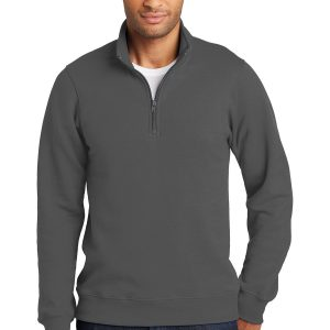Port & Company Fleece Quarter Zip Pullover Sweatshirt
